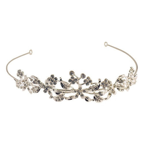 Blossoming Crystal Vine Tiara - ColourYourEyes.com