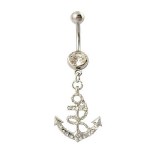 Anchor Dangly Belly Bar - ColourYourEyes.com
