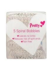 Pretty - Spiral Hair Bobbles - Clear - ColourYourEyes.com