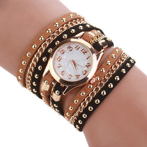 Brown & Black Chain Strap Watch - ColourYourEyes.com