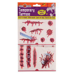 Temporary Halloween Scar Tattoos - ColourYourEyes.com