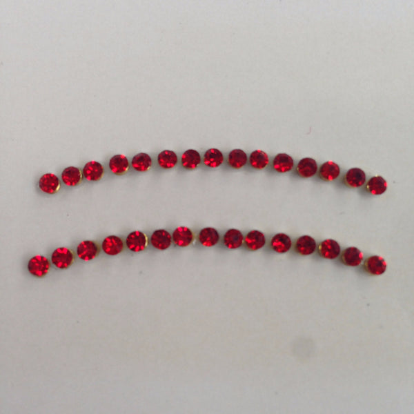 Red Jeweled Eyelid Gems - ColourYourEyes.com
