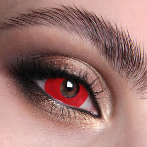 Red Mini Sclera 17mm Colour Contact Lenses