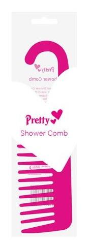 Pretty - Shower Comb with Hooked End (Pink) - ColourYourEyes.com