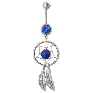 Royal Blue Dream Catcher Belly Bar - ColourYourEyes.com