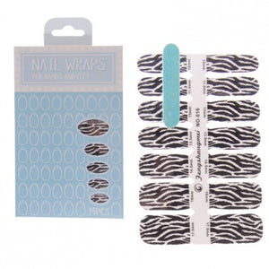 Zebra Nail Wraps - ColourYourEyes.com
