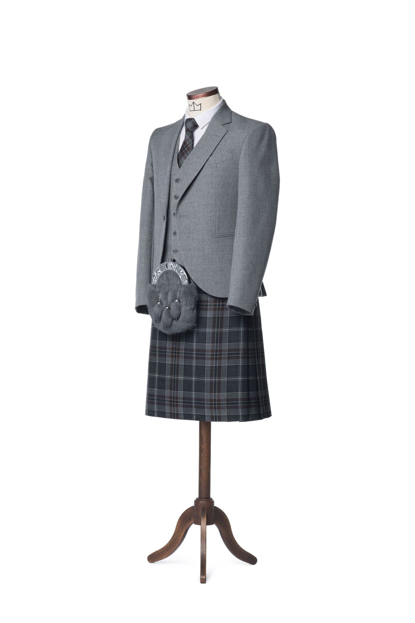 macgregorandmacduff Kilt Outfit Lomond Grey Tweed Package - Choose Your Tartan