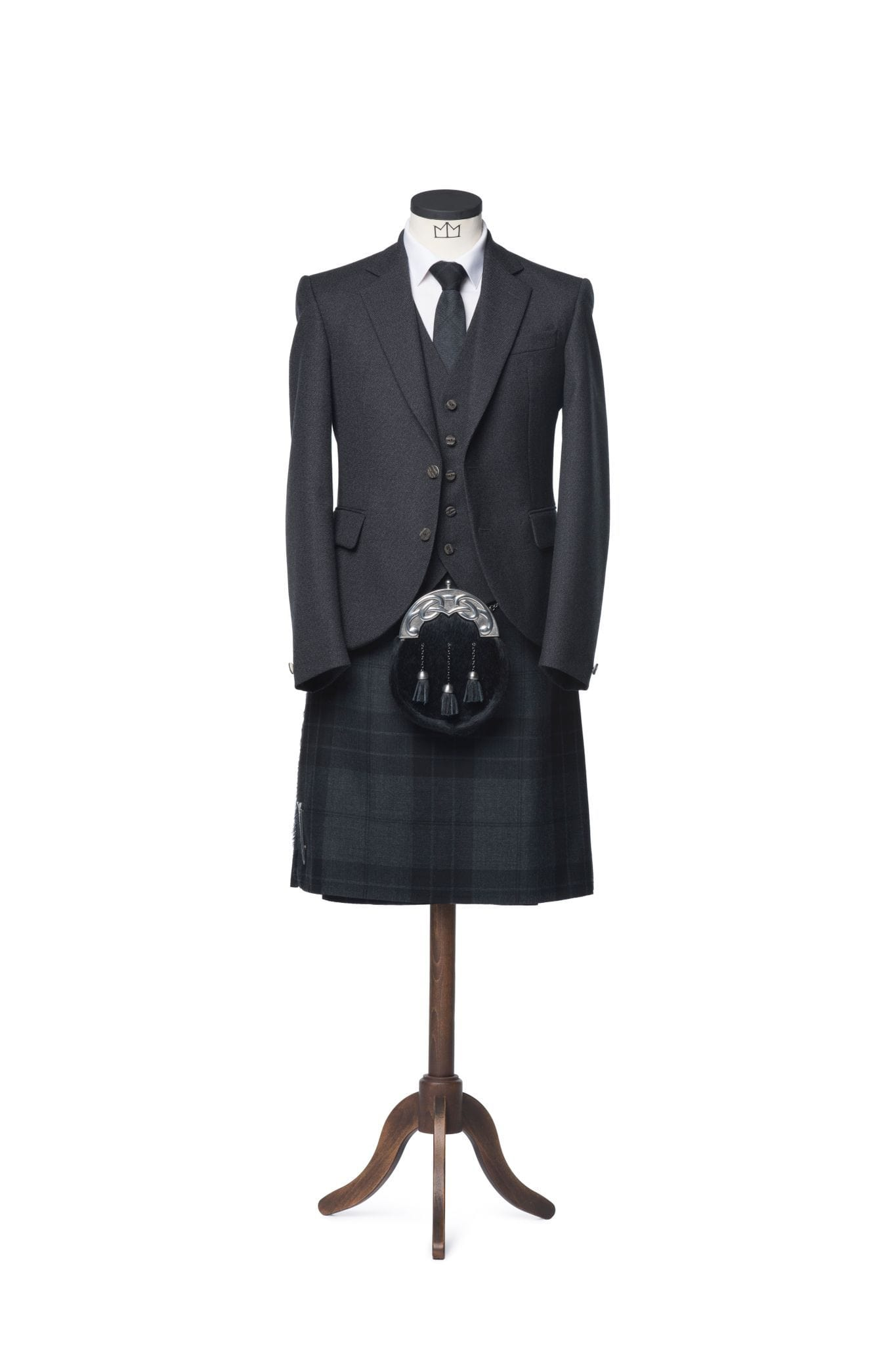 macgregorandmacduff Kilt Outfit Charcoal Glen Orchy Tweed Package - Choose Your Tartan