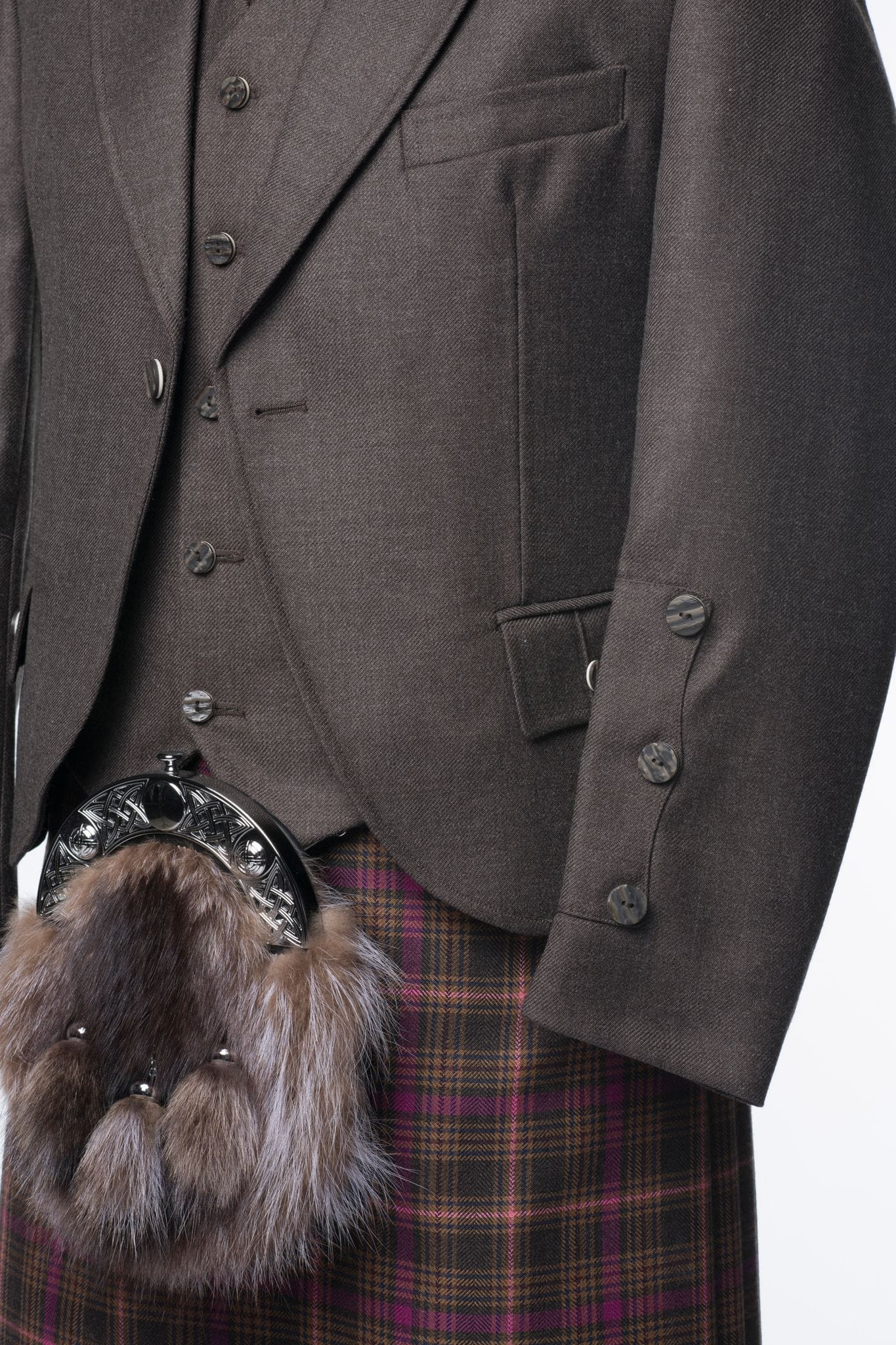 macgregorandmacduff Kilt Outfit Brown Tweed Package - Choose Your Tartan