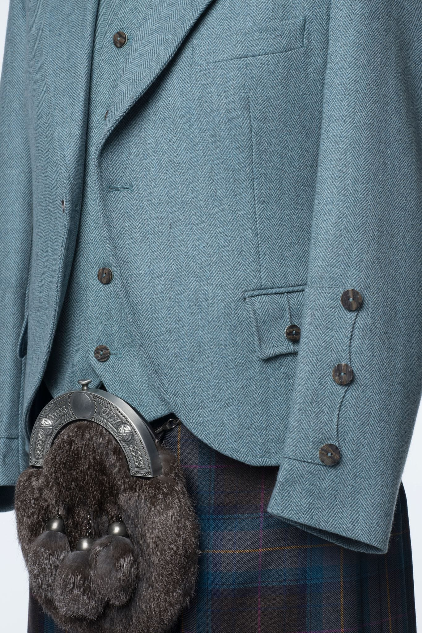 macgregorandmacduff Kilt Outfit Lovat Blue Tweed Package - Choose Your Tartan