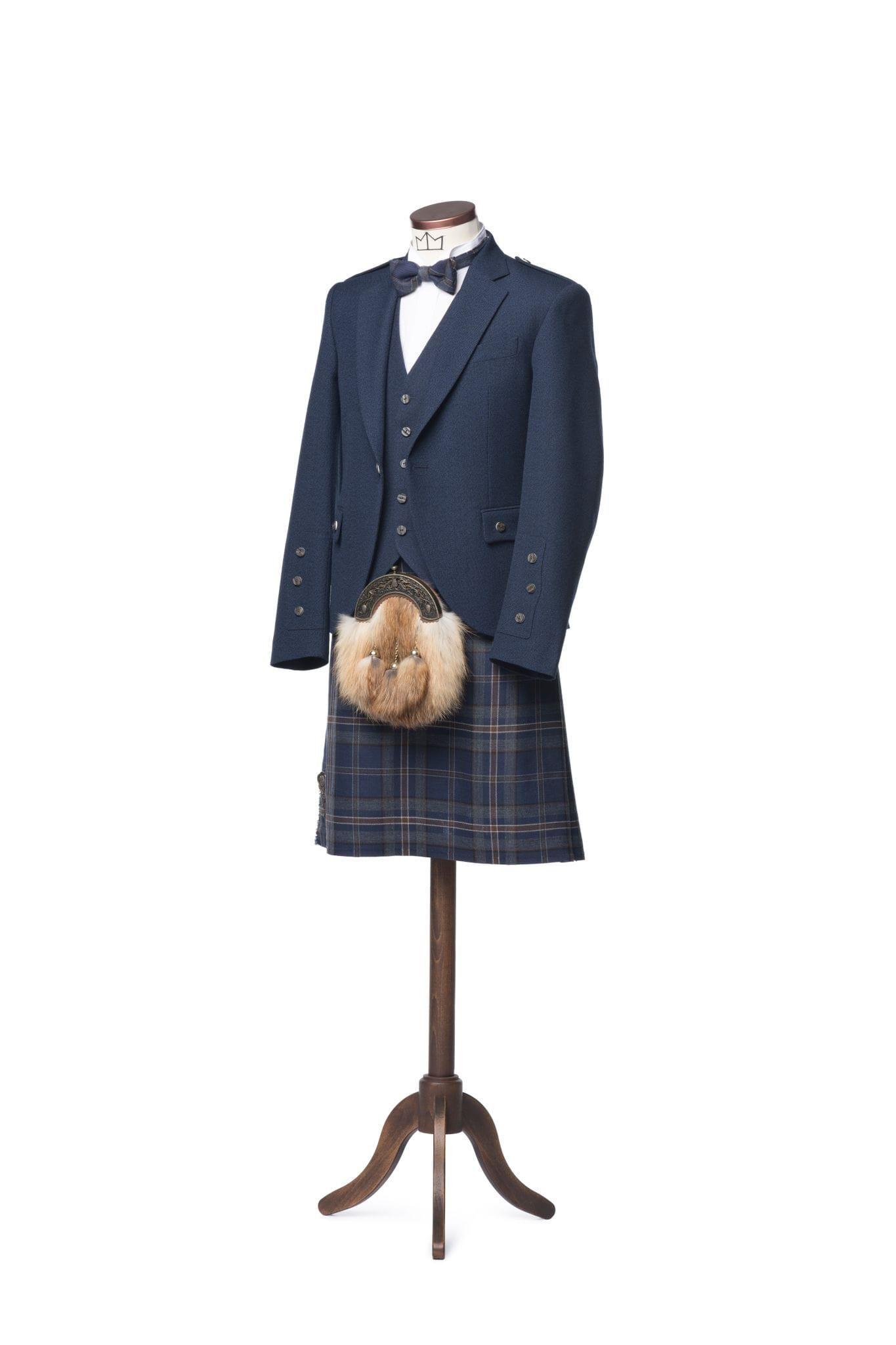macgregorandmacduff Kilt Outfit Arran Navy Tweed Package - Choose Your Tartan