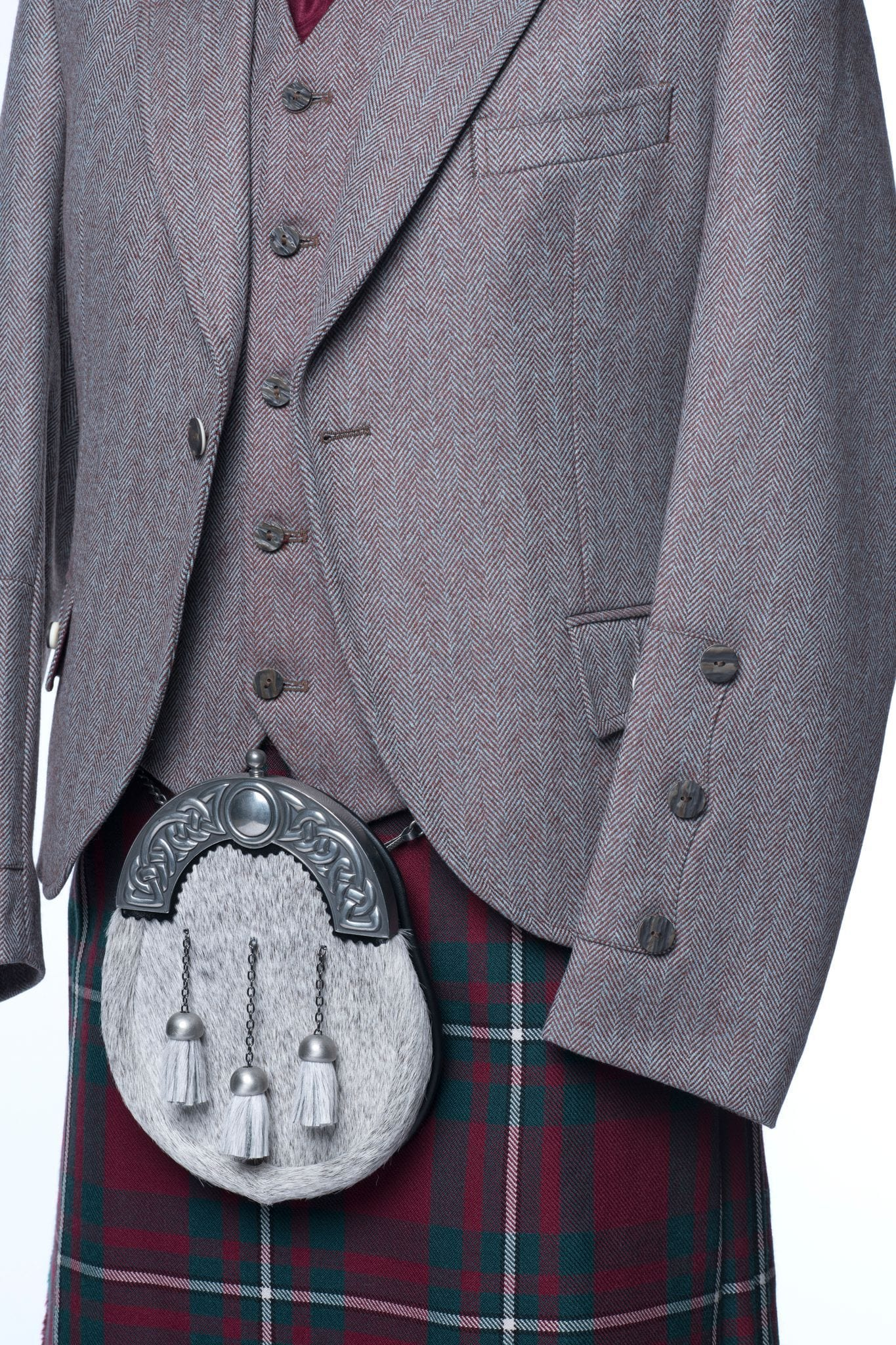 macgregorandmacduff Kilt Outfit Russet Tweed Package - Choose Your Tartan