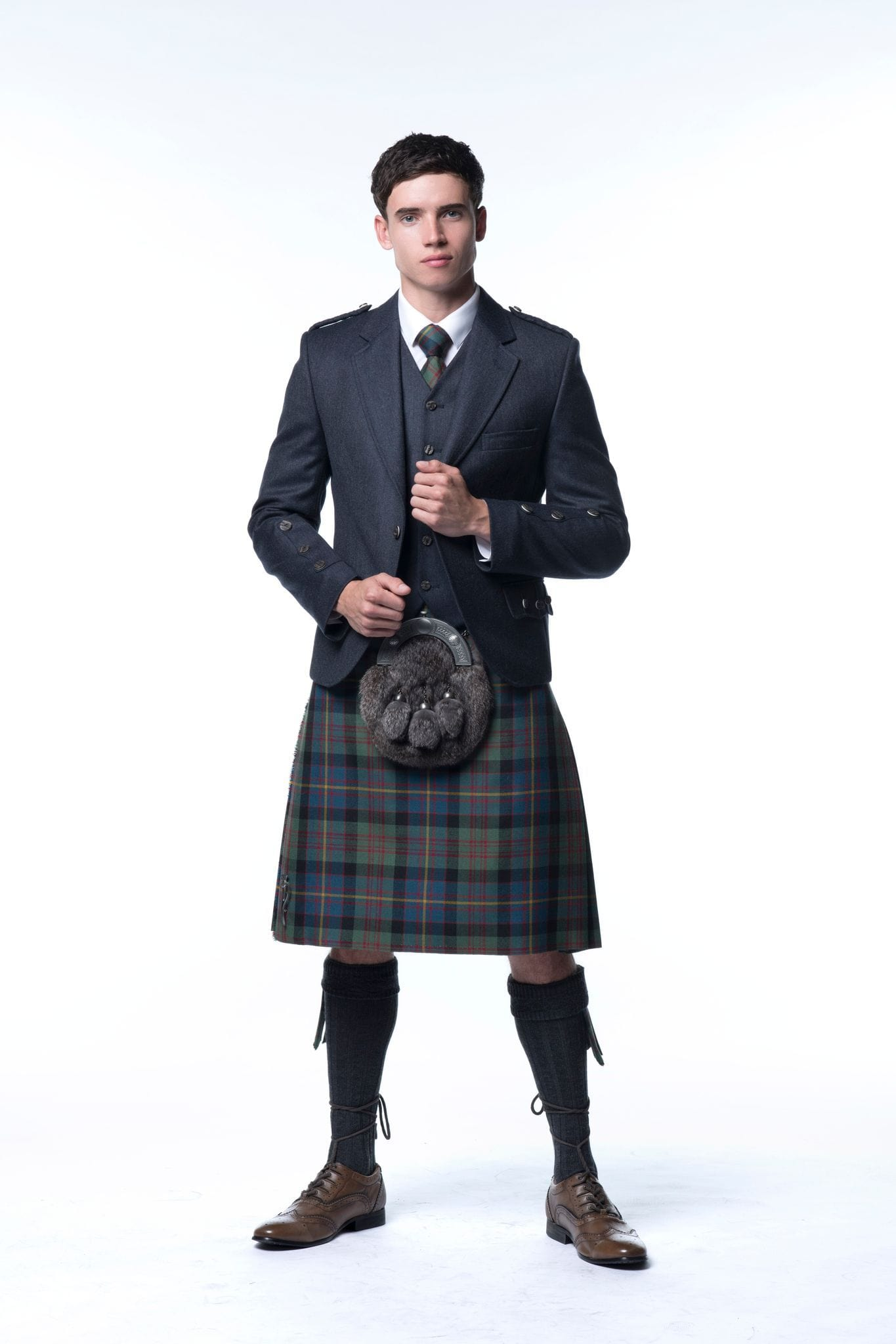 macgregorandmacduff Kilt Outfit Navy Clunie Tweed Package - Choose Your Tartan