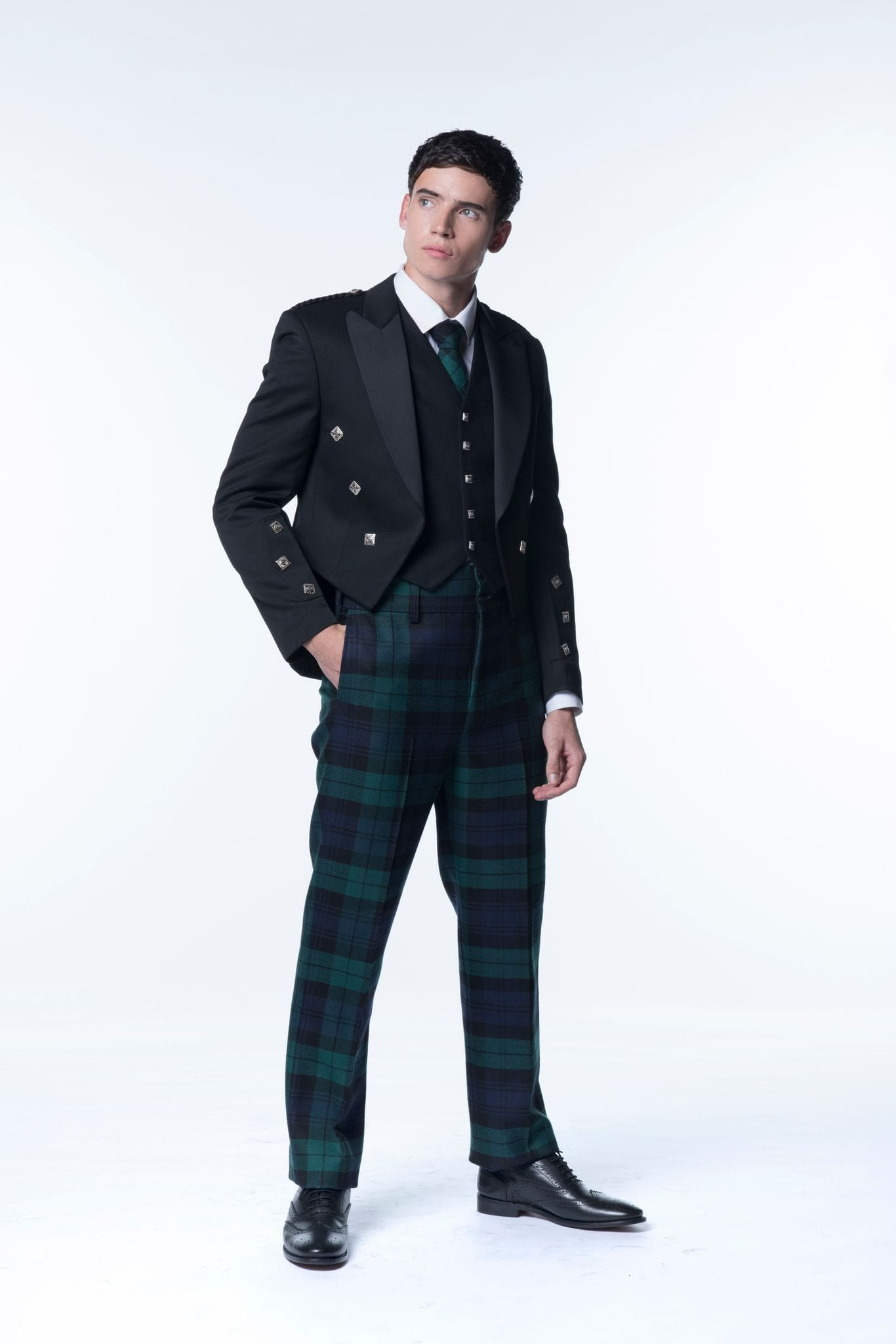MacGregor MacDuff Trousers & Trews Tartan Trews with Fishtail Back
