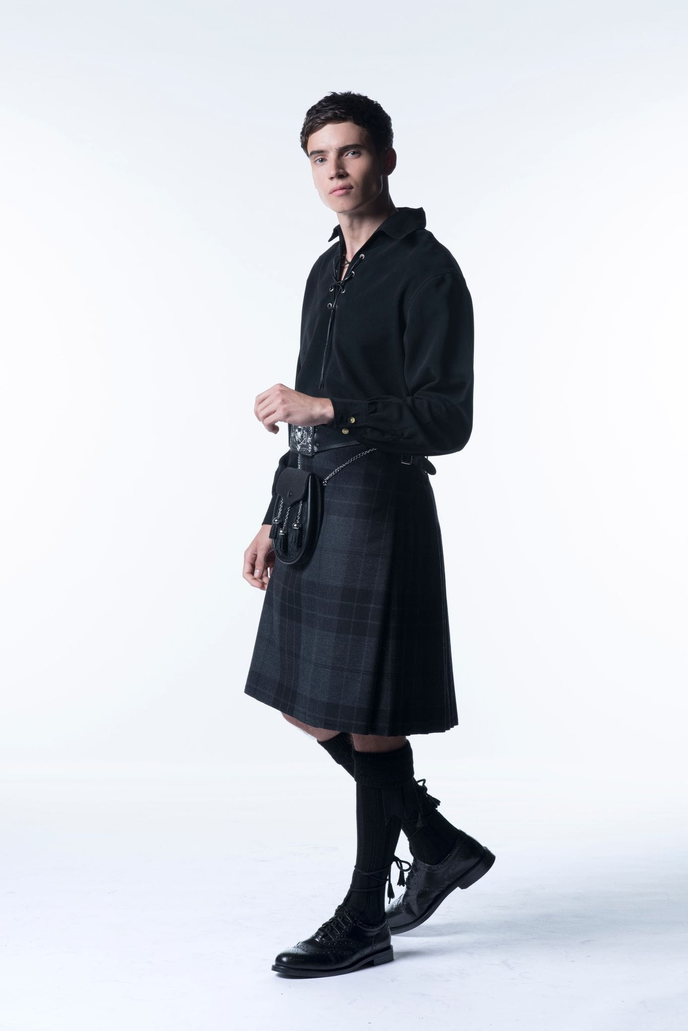Kilt Outfit with Ghillie Shirt - MacGregor and MacDuff