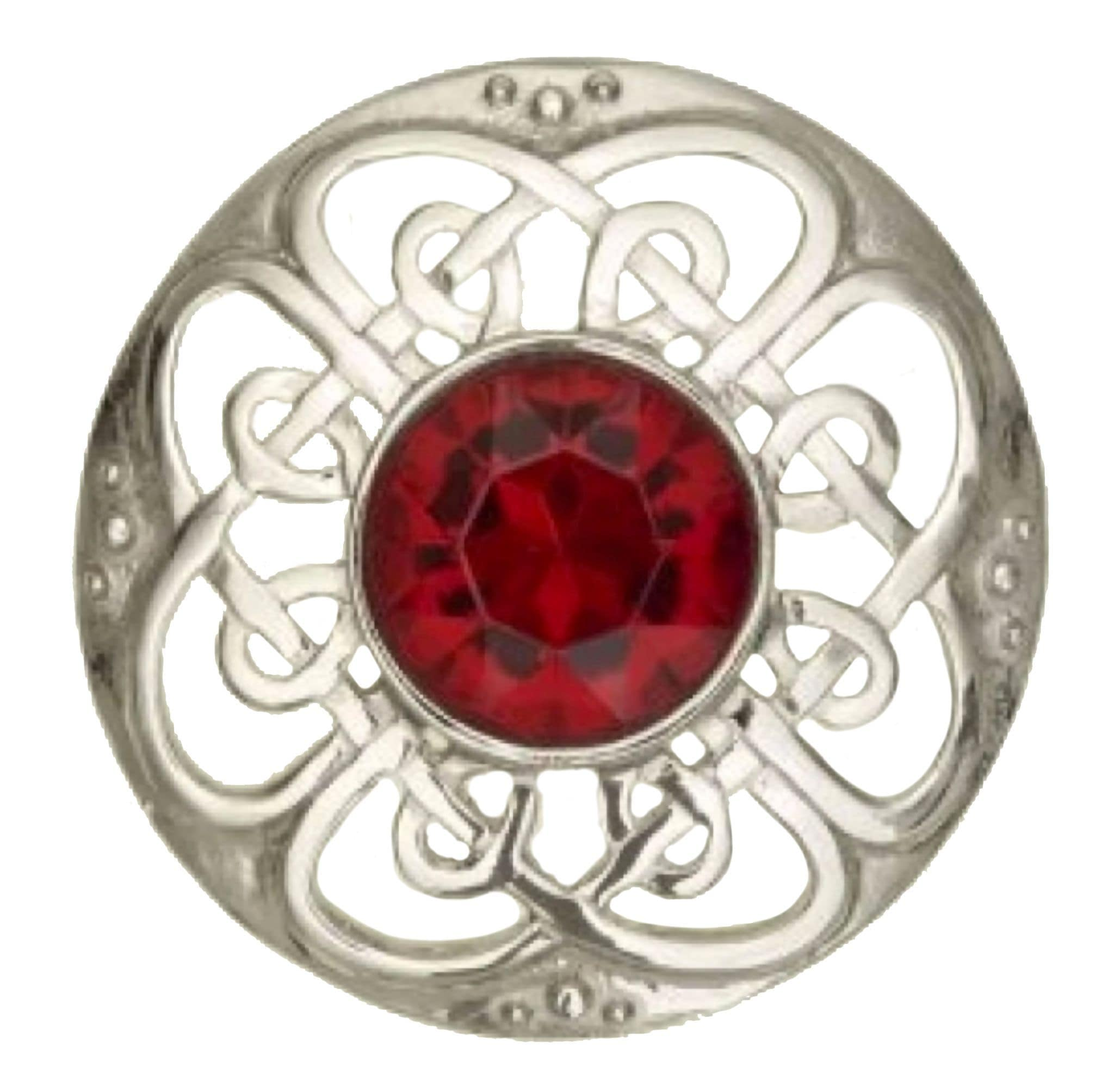 MacGregor MacDuff Culloden Plaid Brooch with Stone (184 AP)