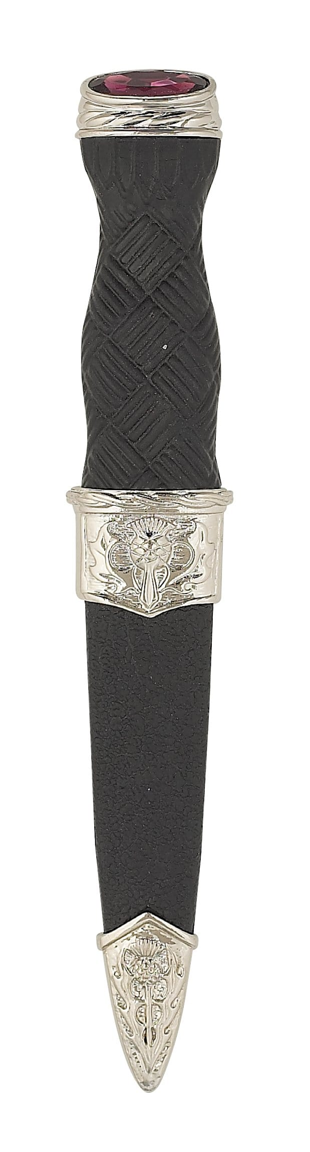 Replica Thistle with Stone Sgian Dubh (SD25 CB) - MacGregor and MacDuff