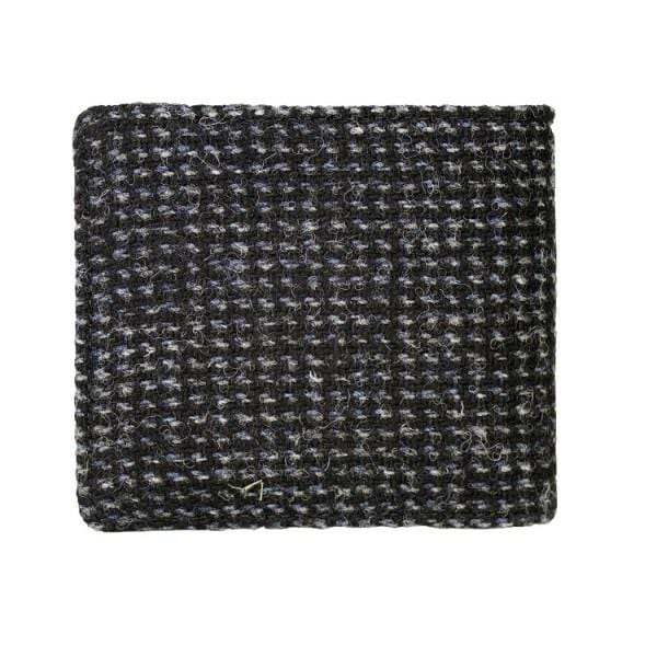 Harris Tweed Harris Tweed Black with White Fleck Classic Wallet