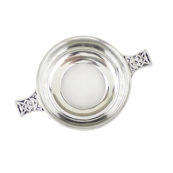MacGregor MacDuff Celtic Handle Quaich with Glass Bottom (BPC0 EP)