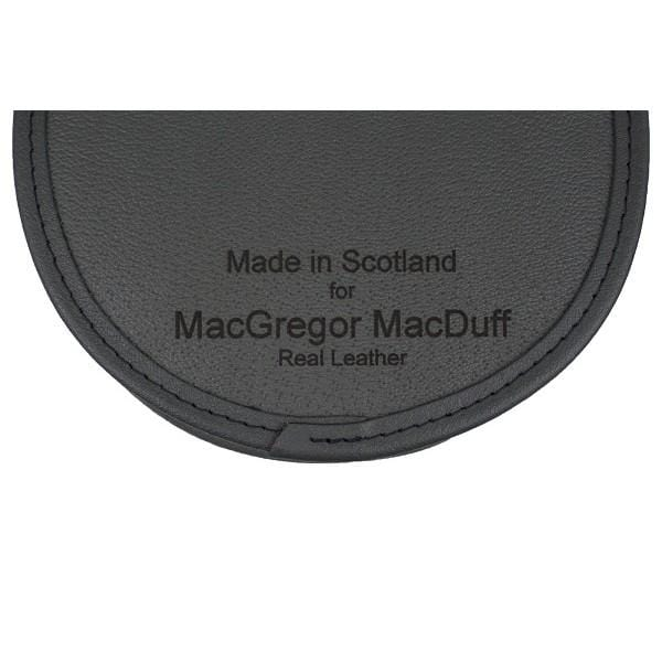 MacGregor and MacDuff The Stag Mount Grey Leather Semi-Dress Sporran  (GMSD26 GE)