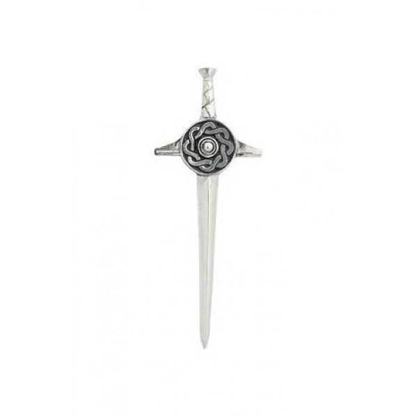 macgregorandmacduff Kilt Pin Sword Kilt Pin with Celtic Shield (KP31 CB)