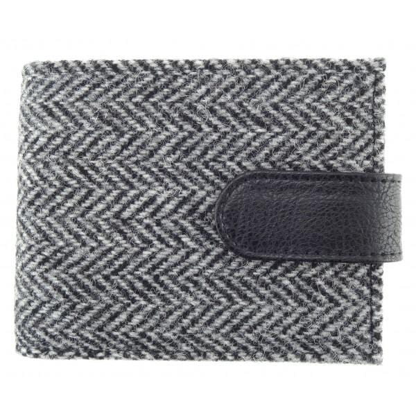 Harris Tweed Harris Tweed Black Herringbone Wallet with Coin Pouch