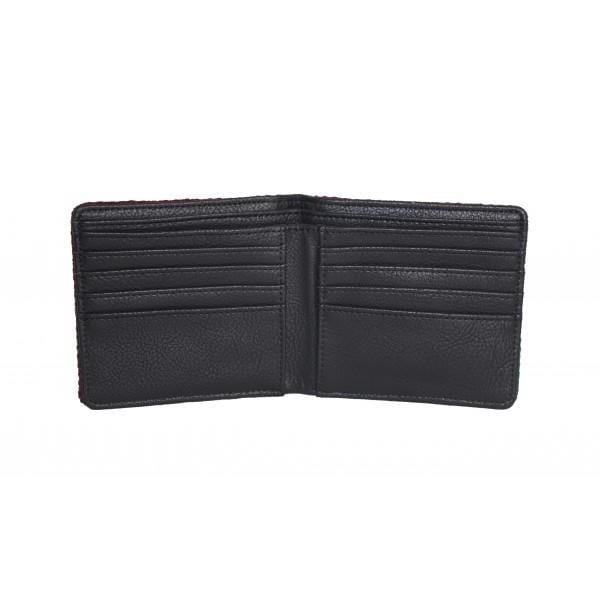 Harris Tweed Black with White Fleck Classic Wallet - MacGregor and MacDuff