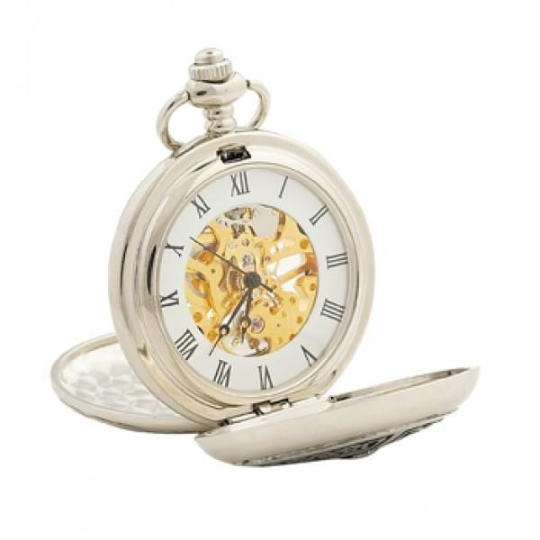 macgregorandmacduff Pocket Watch Three Thistle Black Enamel Pocket Watch (PW114 CB)