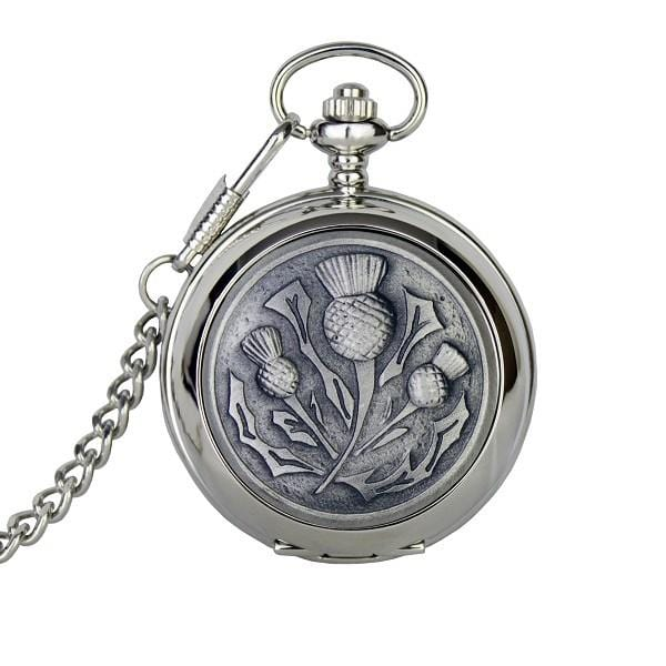 Personalised Three Thistle Pocket Watch (PW102 CB) - MacGregor and MacDuff