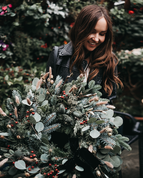 Wreath making in Whitby