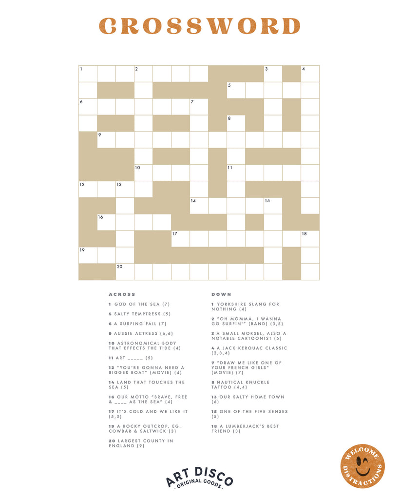 Art Disco Crossword