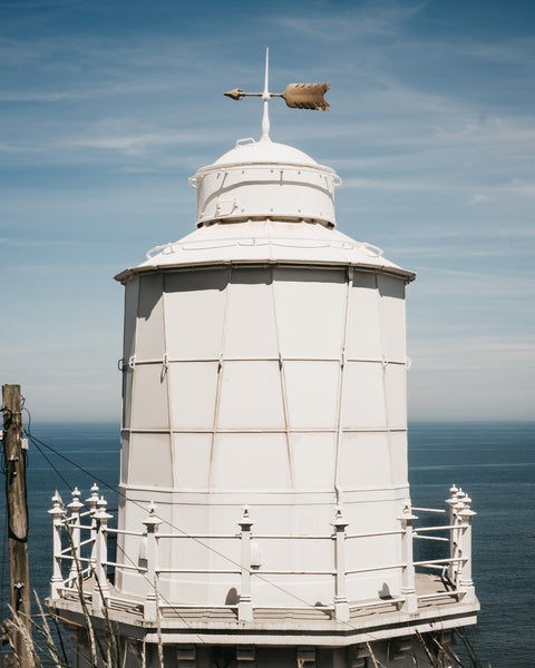 Lighthouse on the cliff top to Whitby
