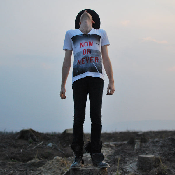 Now or Never VNeck Tshirt by ART DISCO
