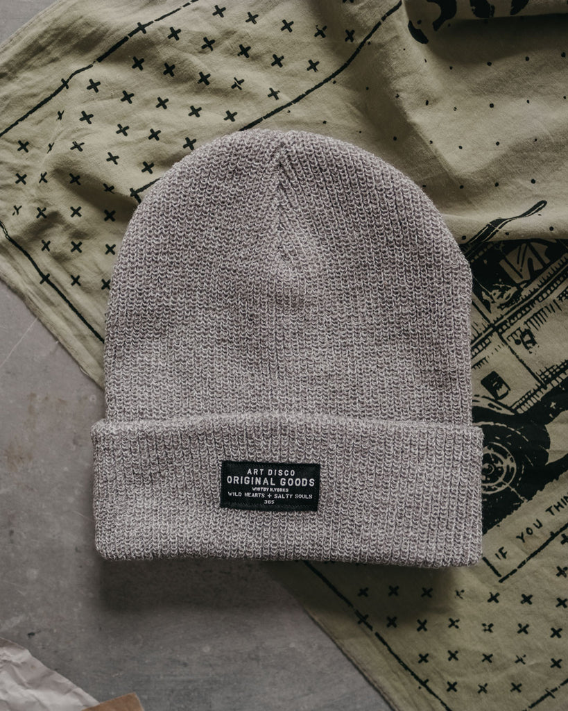 Grey adventurer beanie by Art Disco Original Goods