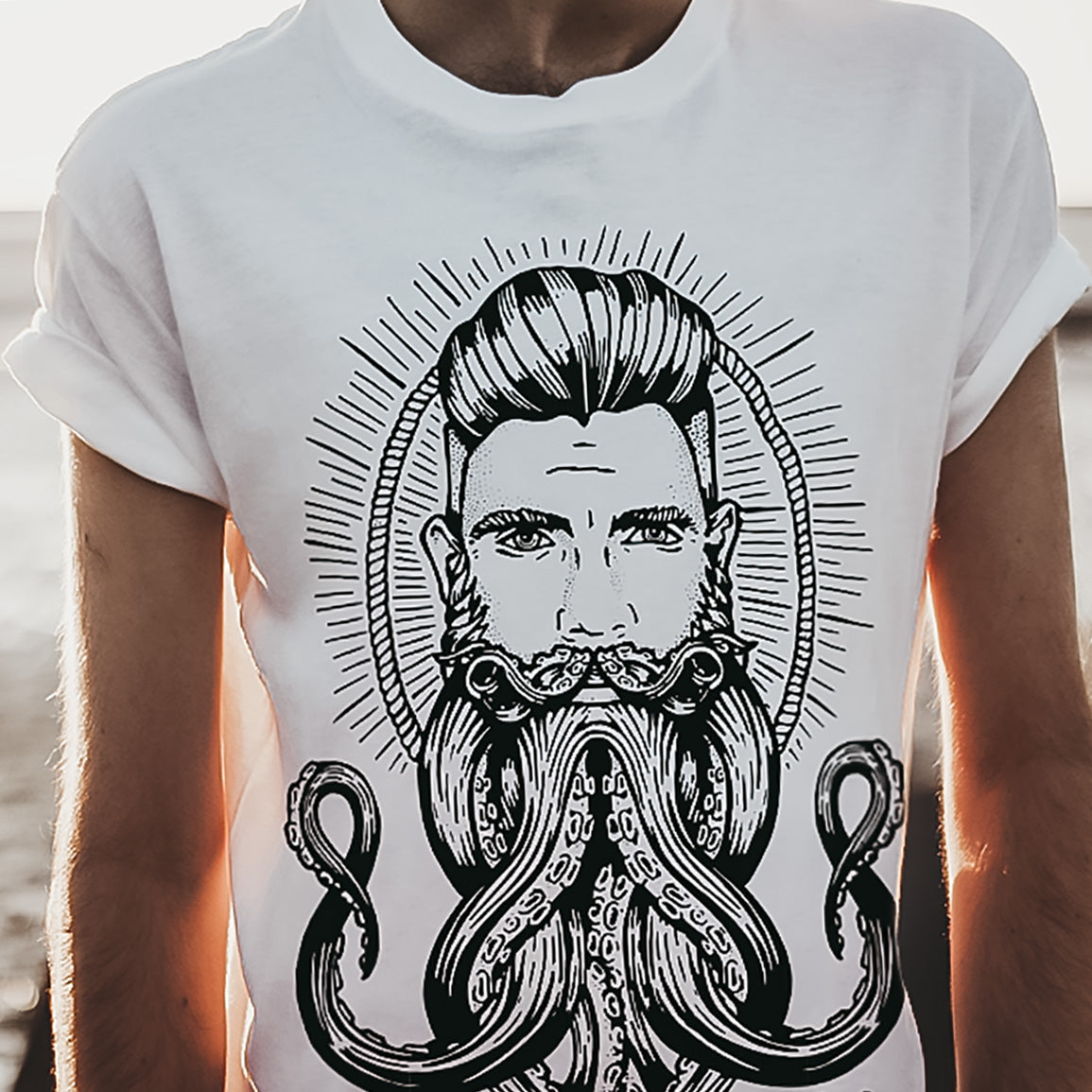 'Neptune' Octopus Beard T-Shirt