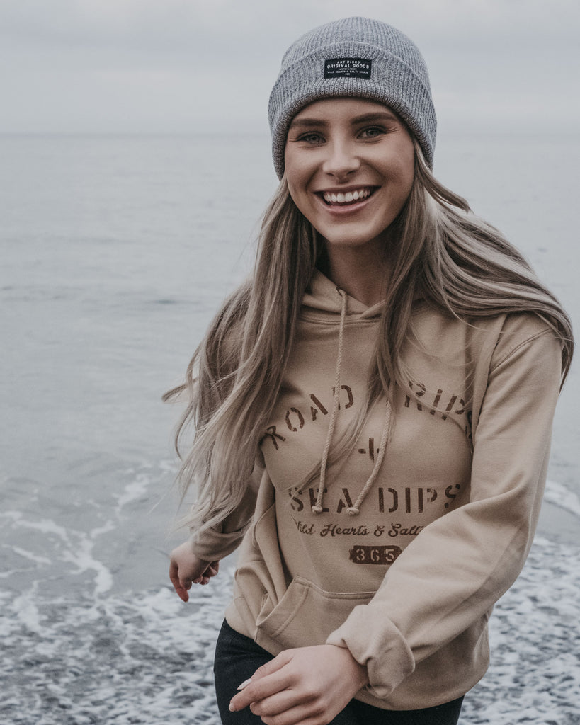 Road Trips + Sea Dips Sand Hoody by ART DISCO Original Goods