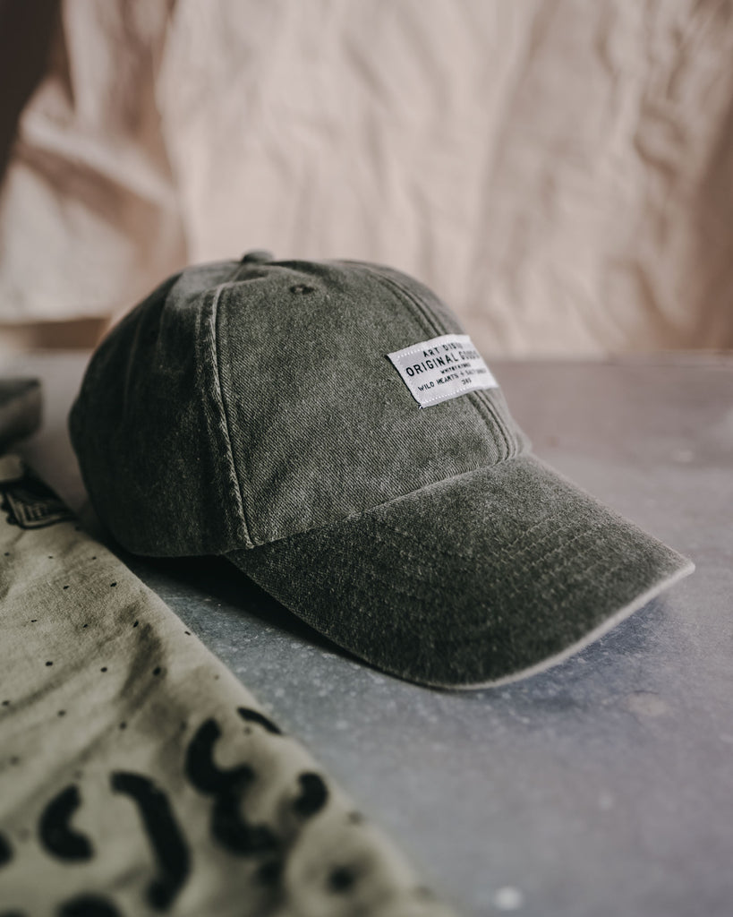 The Wanderer Cap in Sunfaded Sage Green by ART DISCO Original Goods