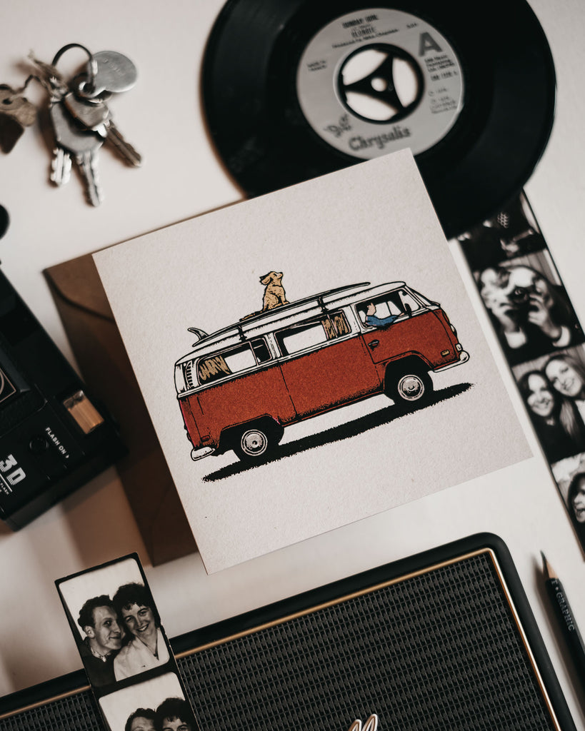 Van Life Greetings Card by ART DISCO Original Goods