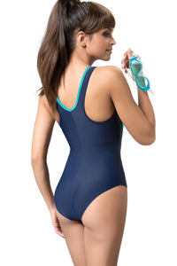 GWINNER Swimsuit one piece navy blue 57225
