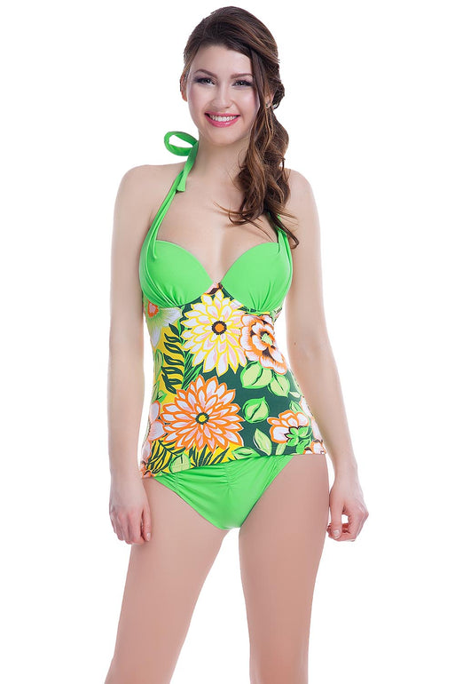 Ewlon Swimsuit two piece green 60322