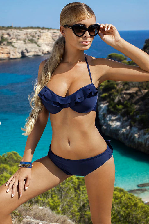 Ewlon Swimsuit two piece navy blue 77752