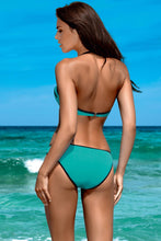 Load image into Gallery viewer, Lorin Swimsuit two piece green 77792