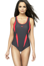 Load image into Gallery viewer, GWINNER Swimsuit one piece grey 112970