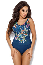 Load image into Gallery viewer, Ava Swimsuit one piece navy blue 129899