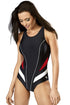GWINNER Swimsuit one piece black 41235