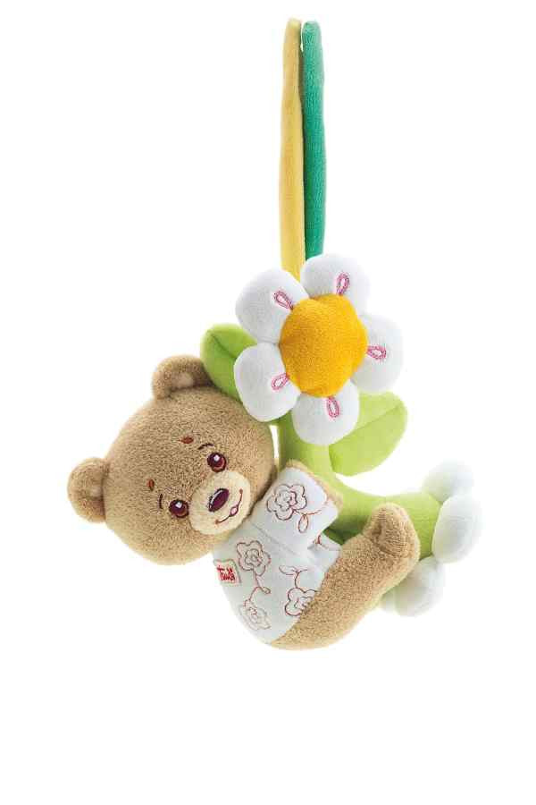 Teddy bear beige with strap