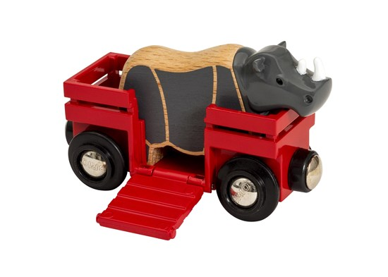 Brio Rhino and Wagon
