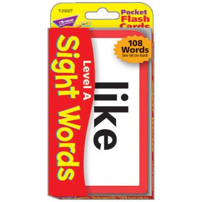 Sight Words A Pocket Flash Cards