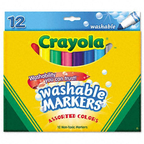 Crayola Broad Line Washable Markers 12 Count