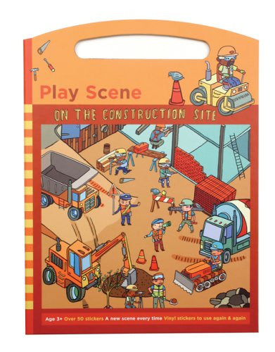 On The Construction Site Sticker Play Scene